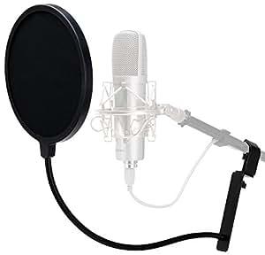 Pronomic PK-2 filtre professionel anti-pop pour le microphone 100mm attenuation plosives et souffle