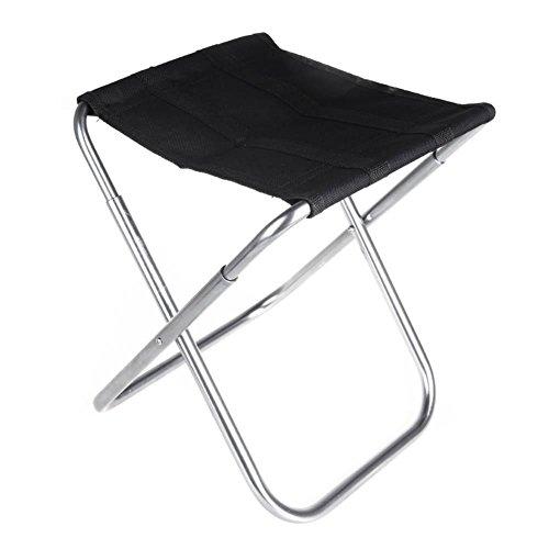 TZ Ted faltbar tragbar Camping Hocker, Outdoor Leicht Neues Design Stuhl für BBQ Camping Angeln Reisen Wandern Garten Strand Oxford Tuch mit Tragetasche Aluminium - Neue Bar Hocker Stuhl