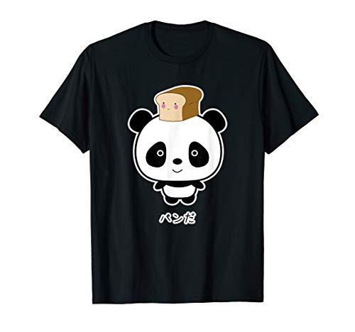Kawaii Panda auf Japanisch mit Brot T-Shirt Japanische Brot