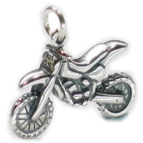 Dirt Bike Motocross Sterlingsilber Charm .925 x 1 Dirtbike Motorrad dkc44173 (Ring Bike)