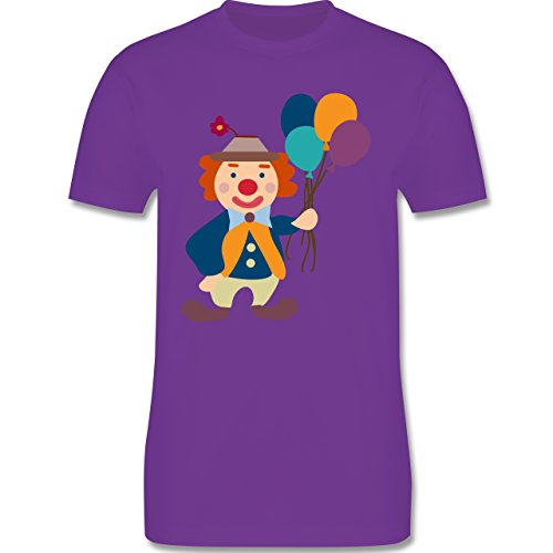 Karneval & Fasching - Clown Luftballons - Herren Premium T-Shirt Lila