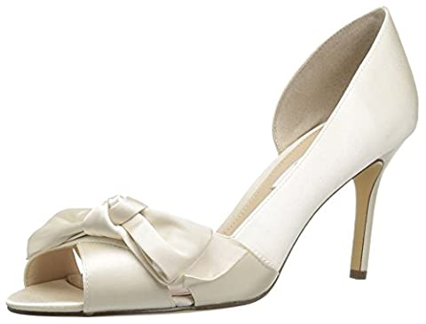 Nina Forbes2 Peep-Toe D'Orsay Dress Pumps - Ivory, 6 US