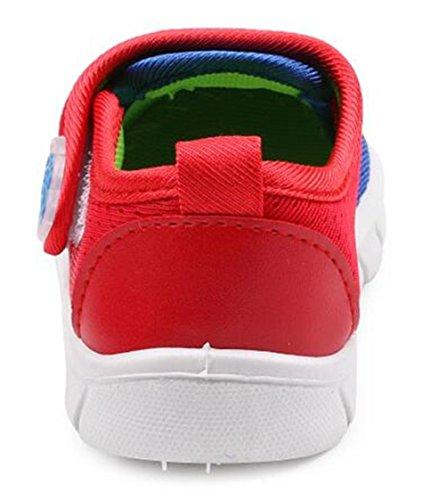 DADAWEN Respirant Mesh Sport Chaussure Unisexe Filles Garçons Bébés bleu foncé