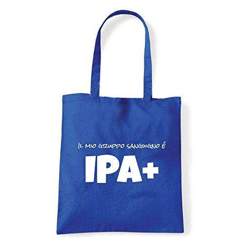 Art T-shirt, Borsa Shoulder IPA+, Shopper, Mare Blu