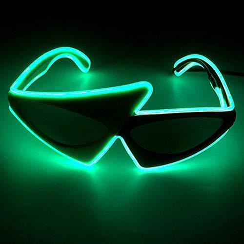axaya Special Shape EL Wire LED Beleuchtung Party Brille DJ Bright Light Multicolor LED Flashing Halloween Weihnachten Geburtstag Party 80s, Hip Hop, Voice Control (Mann Im Käfig Kostüm)