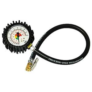 Bamax BX106FM – Manómetro de medida de presión de neumáticos semiprofesional, color negro.
