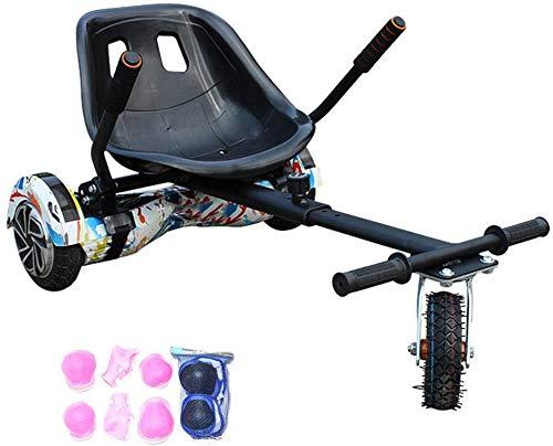WJSW Hoverboard Sitz, ZubehöR FüR Hoverboard-Kart-Sitze FüR Erwachsene Und Kinder, LäNgenverstellbar, Aufblasbare Gummireifen/FüR Alle Selbstausgleichenden Roller (6,5-10 Zo