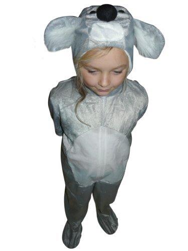 Koala-Bär Kostüm, J42, Gr. 128-134, für Kinder, Koala-Kostüme Koala-Bären für Fasching Karneval, Klein-Kinder Karnevalskostüme, Kinder-Faschingskostüme, Geburtstags-Geschenk Weihnachts-Geschenk