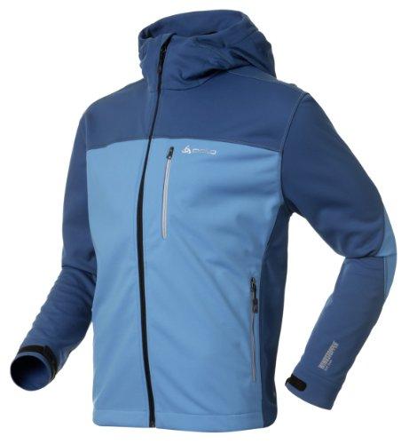Odlo, Giacca a vento sportiva Uomo Magnum Blu/Blu - Dresden Blue/Blue sapphire