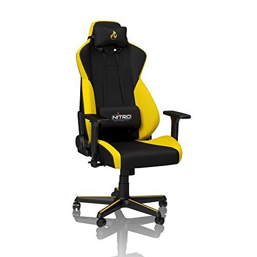 NITRO CONCEPTS S300 Gamingstuhl - Bürostuhl - Schreibtischstuhl - Stoffbezug - Astral Yellow (Gelb)