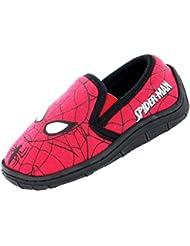 Garçons Spiderman Chaussons–Smart Rouge et Noir