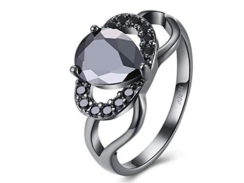 NqceKsrdfzn Wunderbar Paar Ringe Elegante Ring für Frau Modeschmuck Black Diamond Ring (Schwarz)
