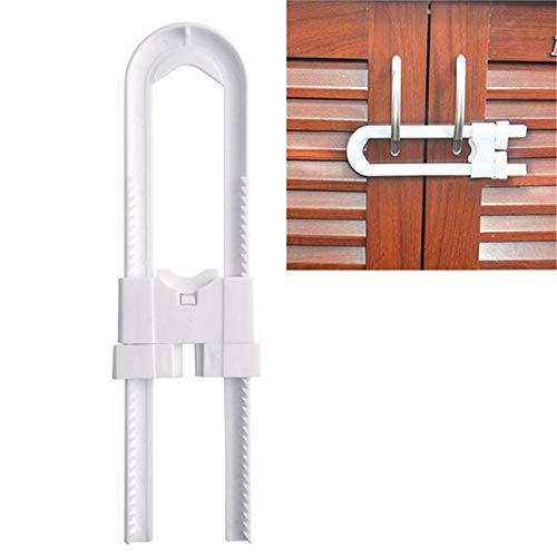 Locks - Practical 1pcs Cabinet Locks Baby Safety Cupboard U Shape Lock Child Infant Kid Drawer Door - Proof Elbow Heavy Assembly Replacement Drill Hardware Brown Curio Files Toddlers Knob Mor -