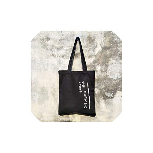 Eternity Bliss Große Kapazitäts-Segeltuch-Einkaufstasche Stoff Baumwolltuch-Einkaufstaschen,Black 3 -