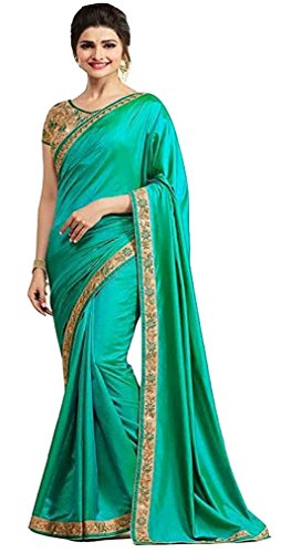I-Brand Green Color Paper Silk , Metti Fabric Embroidery Saree ( New...
