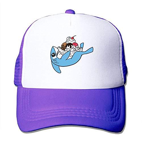 Preisvergleich Produktbild Shark Ice Cream Mesh Trucker Caps / Hats Adjustable for Unisex Black