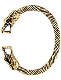 Handmade Pagan Viking Dragon braccialetti bracciali per uomo e donna (oro)