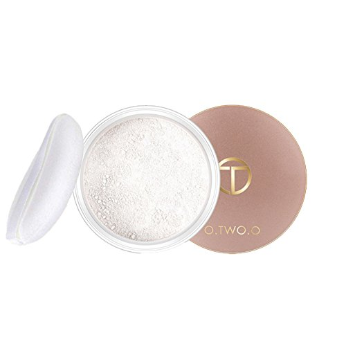 (Loses Pulver Öl kontrolle Gesichtspuder Soft Mat Make-up-Finishing-Pulver Transparent Loose Powder - Weiß, Teint Puder (Weiß))