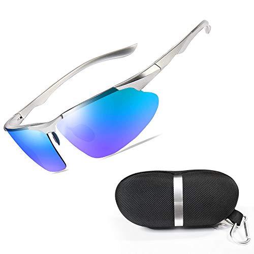 New rui cheng Radsportbrille, Sportbrill Fahrradbrille UV 400 Radsportbrillen Sportbrille Herren Damen Fahrradbrill Sport-Sonnenbrille Angeln im Freien Laufen Fahren Brille Superleichter Schutzbrille