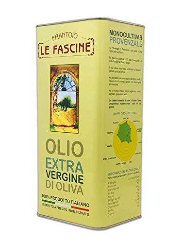 Le Fascine Olio Extravergine Di Oliva Italiano In Latta Da 5 Lt 100 % Prodotto Da Olive Provenzali ( Peranzane )