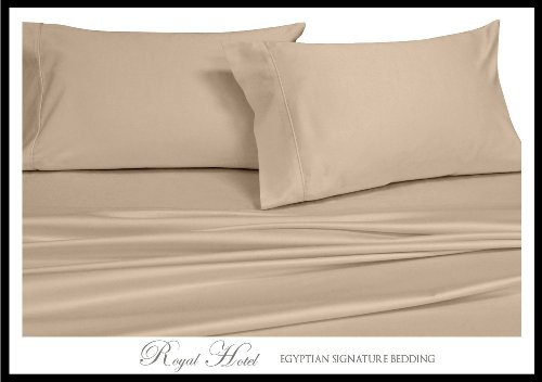 Royal Hotel Soliden 4 Down-Alternative Tröster Set 300-thread-count 100% Rayon aus Bambus California King Hautfarben (California King-down-alternative Tröster)