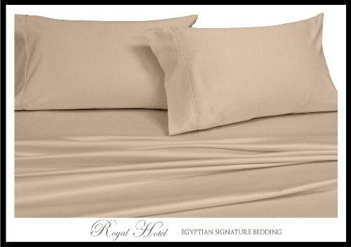 Royal Hotel Soliden 4Down-Alternative Tröster Set 300-thread-count 100% Rayon aus Bambus California King Hautfarben (California King-down-alternative Tröster)