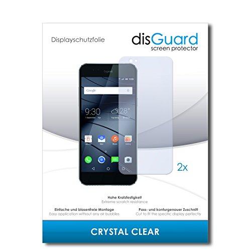 disGuard® Bildschirmschutzfolie [Crystal Clear] kompatibel mit Gigaset ME Pure [2 Stück] Kristallklar, Transparent, Unsichtbar, Extrem Kratzfest, Anti-Fingerabdruck - Panzerglas Folie, Schutzfolie