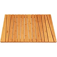 Bamboo Deluxe Shower Floor and Bath Mat - Skid Resistant - Heavy Duty Solid Design. by ToiletTree Products