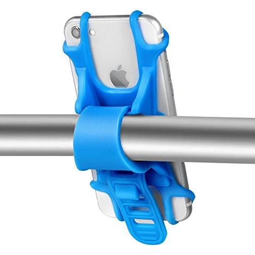 "MAYISUMAI Fahrrad Handy Halterung, Elastische Silikon Fahrrad Motorrad Lenker Handy Halter für Universal Smartphone 4"" - 5.5"" iPhone 7 Samsung Galaxy S7, blau"