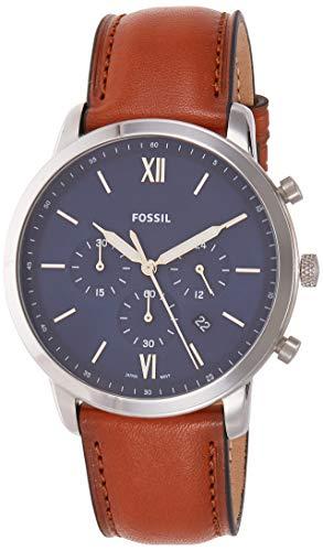 Fossil Herren Chronograph Quarz Uhr mit Leder Armband FS5453