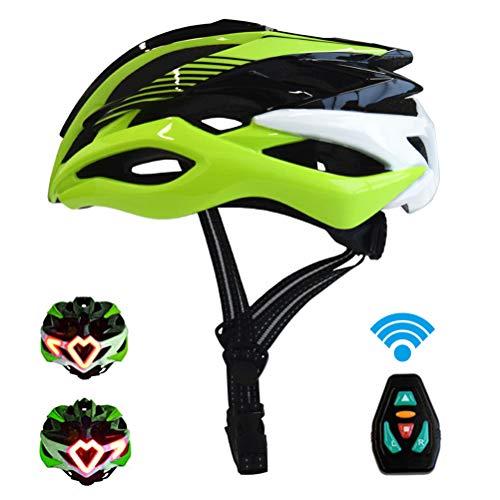 Glomab Fahrradhelm mit Blinker und integriertem Bremslicht, Smarter Fahrradhelm mit Links Abbiegen, Rechts Abbiegen, Gerade, Anhalten, Standby/Taschenlampe