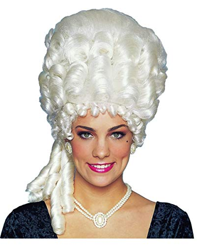 Horror-Shop Platinblonde Rokoko Perücke Marie Antoinette Deluxe für ()