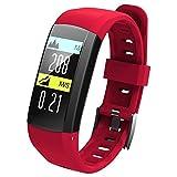 LCLrute Freies Verschiffen G04 Smart Armbanduhr IP68 Wasserdichte Uhr Pedometer Sport Armband GPS Herz Aktivität Fitness Tracker (Rot)