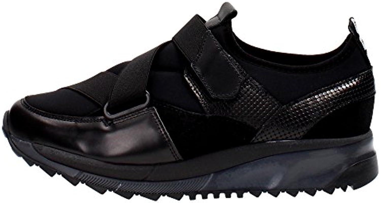 Bronx 65440-K Slip-on Zapatos Mujer Cuero/tejido Negro