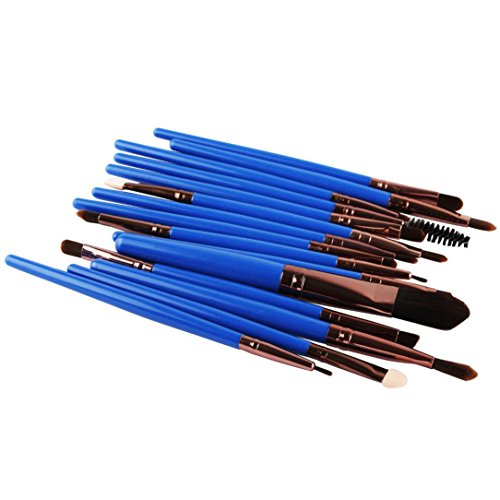 Honestyi 15pcs/Set Ensemble de pinceaux de Maquillage Bleu foncé (Bleu foncé)