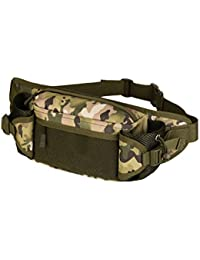 Magideal Outdoor Travel Hiking Camping Multiple Pockets Adjustable Strap Mini Waist Pack Utility Pouch Belt Bag...