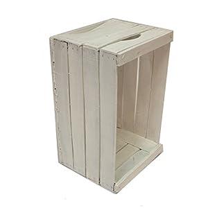 Vintage-Box restauriert und weiß lackiert cm 51x31x28 empfohlen für die Realisierung von Möbeln, Regalen, Bücherregalen // Apfel, Holz, Shabby, Möbel, Design, Recycling