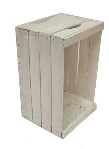 Cassetta vintage restaurata e verniciata di bianco cm 51x31x28 consigliate per la realizzazione di mobili, scaffali, librerie. // casse mela, legno, Shabby,arredamento, design, riciclo