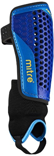 mitre-aircell-carbon-ankle-protect-football-shin-pads-blue-cyan-yellow-medium