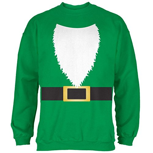 e Kostüm grün Herren Sweatshirt Irisch grün 2XL (Gnome Halloween Kostüm)