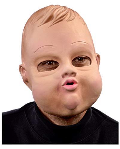 Hochwertige Chubby Baby Doll Maske aus Latex für Karneval (Baby Doll Maske)