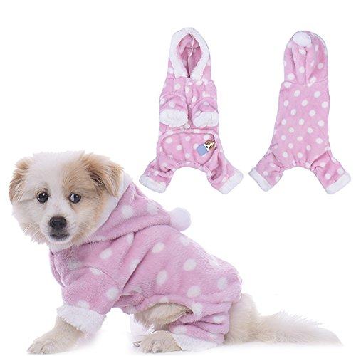 WIDEN Haustier-warmer Kleid-Hund mit Kapuze Pyjamas Katze-Kleidung-Overalls-Freizeit-Abnutzung vier-Füße