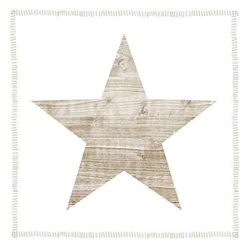 étoile taupe beige blanc 3 épaisseurs 20 Papier Serviettes 13 \