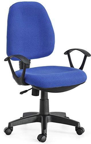 sedia ufficio scrivania Torino ruote tessuto studio colore blu