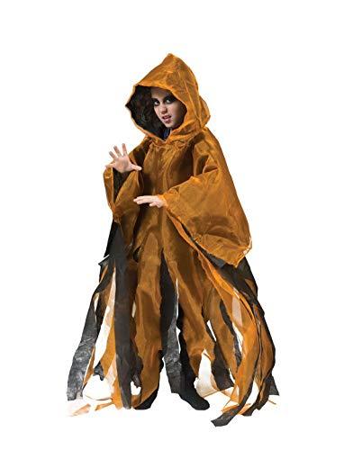 costumebakery - Jungen Kinder Kostüm, Gespenster Cape Geist Ghoul Ghost perfekt für Halloween Karneval und Fasching, 110-140, ()
