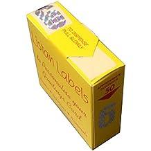 Listan Labels Adesivi numerici metallizzati - Pacco da 50