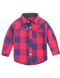 df79f1ff0 Chicos De Primavera Camisa A Cuadros De Algodón Niños Coreanos Tops Camisas  Casuales De Manga Larga para Niño 2-10 Años Ropa para…