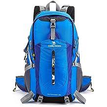 27166757beca9 CAMEL 40L Leichter Rucksack Wasserdicht Outdoor Sports Daypack mit  Regenschutz für Wandern Laufen Radfahren Klettern und