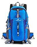 Camel 40L Lightweight Backpack Water Resistant Outdoor Sports Daypack with Rain Cover