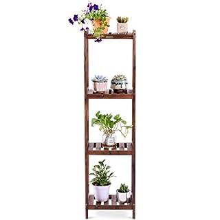 COSTWAY Standregal Stufenregal Blumenregal Bücherregal Blumenständer Blumentreppe Pflanzenregal Lagerregal 3/4/5 Ebenen